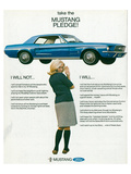1967 Take the Mustang Pledge Pósters
