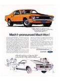 1970 Mustang Mach1-Mach Won Póster