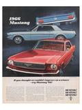 1966 Mustang- Improve a Winner Print