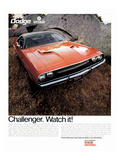 1970 Dodge Challenger-Watch It! Posters
