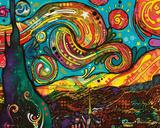 Dean Russo- Starry Night Poster van Dean Russo
