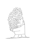 New Yorker Cartoon Premium-giclée-vedos tekijänä Steinberg, Saul
