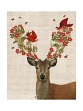Deer and Love Birds Posters av  Fab Funky