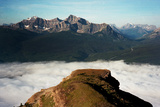 Clouds Linger Above a Valley in Banff National Park Photographic Print by Michael Hanson