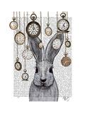 Rabbit Time Posters par  Fab Funky
