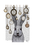 Rabbit Time Poster by  Fab Funky