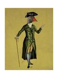 Goose in Green Regency Coat Posters by  Fab Funky