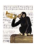 Monkey Playing Trumpet Lámina giclée prémium por  Fab Funky
