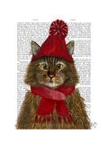 Maine Coon Cat Lámina giclée prémium por  Fab Funky