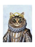 Katzenkönigin Kunstdruck von  Fab Funky