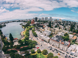 Afternoon View Over Lake Merritt, Oakland California Lámina fotográfica por Vincent James