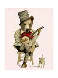 Banjo Bear Giclée-Premiumdruck von  Fab Funky