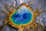 Aerial View of the Colorful Grand Prismatic Spring Photographic Print by Tom Murphy