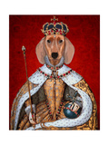 Dachshund Queen Poster by  Fab Funky