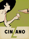 Cinzano - Citrus Reproduction procédé giclée par  The Vintage Collection