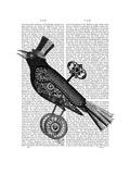 Steampunk Crow Affiches par  Fab Funky