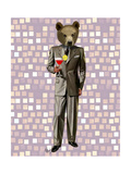 Bear with Cocktail Arte por  Fab Funky