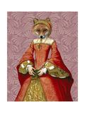 Fox Queen Prints by  Fab Funky