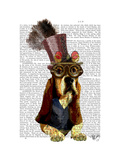 Basset Hound Steampunk Top Hat Goggles Affiches par  Fab Funky
