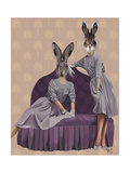 Rabbits in Purple Lámina giclée prémium por  Fab Funky