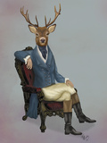 Distinguished Deer Full Láminas por  Fab Funky