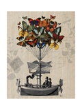 Butterfly Airship Plakater af  Fab Funky