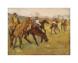 Before the Race Premium Giclee-trykk av Edgar Degas