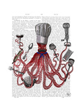 Octopus Fabulous French Chef Kunst von  Fab Funky