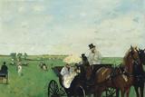 At the Races in the Countryside, 1869 Giclee-trykk av Edgar Degas