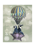 Flying Penguins Lámina giclée prémium por  Fab Funky
