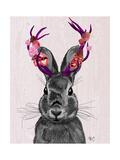 Jackalope with Pink Antlers Poster par  Fab Funky