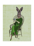 Lady Bella Rabbit Taking Tea Posters por  Fab Funky