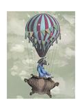 Flying Zebra Giclée-Premiumdruck von  Fab Funky