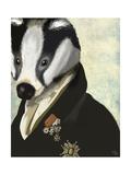 Badger the Hero Giclée-Premiumdruck von  Fab Funky