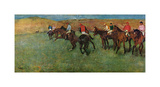 At the Races - Before the Start Premium Giclee-trykk av Edgar Degas