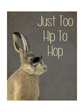 Too Hip to Hop Grey Prints by  Fab Funky
