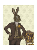 Dapper Hare Print by  Fab Funky