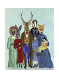 Woodland Family Poster by  Fab Funky