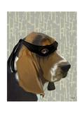 Ninja Basset Hound Dog Affiches par  Fab Funky