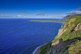 View Looking Back at Kalaupapa and Makanalua Peninsula from Naiwa Pasture, Molokai, Hawaii Fotografisk trykk av Richard Cooke III