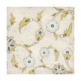 Spa Floral Fresco III Metal Print by June Erica Vess