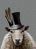 Steampunk Sheep Print by  Fab Funky