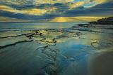 Tide Pools at Sunset, at Kawakiu Nui Beach, West End, Molokai, Hawaii Fotografisk trykk av Richard Cooke III