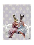 Rabbit Chat Kunstdrucke von  Fab Funky