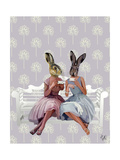 Rabbit Chat Prints by  Fab Funky