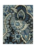 Indigo Peacock II Poster af Chariklia Zarris