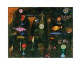 Fish Magic Giclée-tryk af Paul Klee
