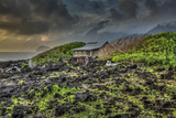 Mariano's Cabin on Makanalua Peninsula, Kalaupapa Settlement, Molokai, Hawaii Fotografisk trykk av Richard Cooke III
