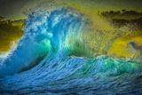 Painted Wave Photo at Papohaku Beach, West End, Molokai, Hawaii Fotografisk trykk av Richard Cooke III