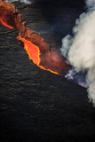 Volcano Eruption at the Holuhraun Fissure Near the Bardarbunga Volcano, Iceland Fotografie-Druck